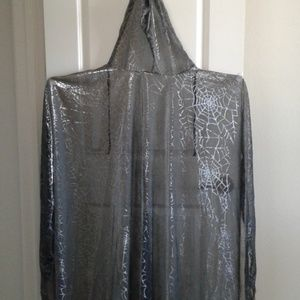 Spider Web hooded cape